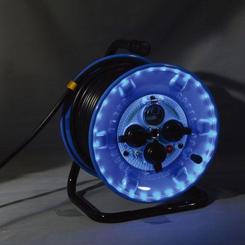 【送料無料】日動工業 防雨型LEDラインドラム青 NPWL-EK33-B