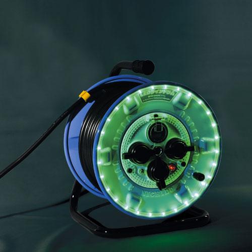 【送料無料】日動工業 防雨型LEDラインドラム緑 NPWL-EK33-G