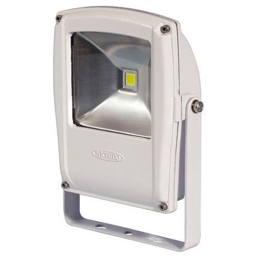 【送料無料】日動工業 フラットライト10W 本体白 電球色 LEN-F10D-W-S