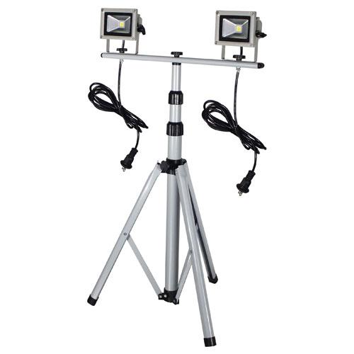 【送料無料】日動工業 LED作業灯 10W 三脚2灯式 LPR-S10LW-3M