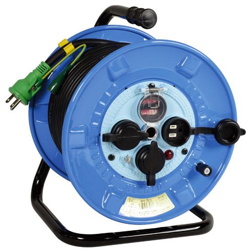 【送料無料】日動工業 防雨・防塵型ドラム リペアポッキンタイプ 30m NPW-EK33RE