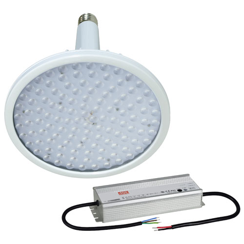 【送料無料】日動工業 ハイディスク100W 電源装置外付型 口金式 昼白色 45度 L100W-E39-HS-50K