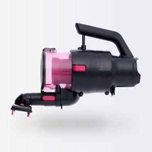 【送料無料】ツインバード TWINBIRD パワーハンディークリーナー ハンディージェットサイクロン attrax ピンク HC-5252P【smtb-u】