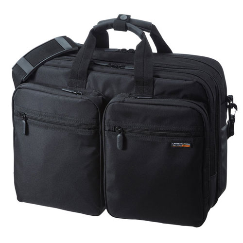 【送料無料】サンワサプライ 3WAYビジネスバッグ 出張用 BAG-3WAY21BK