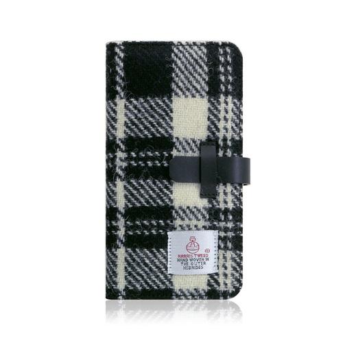 【お試し送料無料】SLG Design エスエルジーデザイン iPhone 6.1/iPhone XR Harris Tweed Diary ホワイト×ブラック SD13719i61【smtb-u】