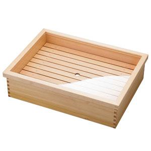 【送料無料】ヤマコー ネタ箱・かぶせ蓋/目皿 ステンレスバット付 大 10344