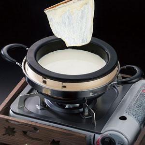 【送料無料】ヤマコー 直火タイプ湯葉鍋 持ち手付 21495