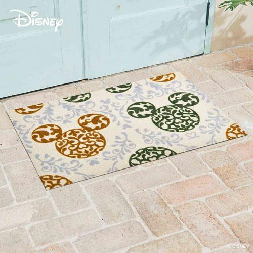 【送料無料】【メーカー直送】クリーンテックス・ジャパン Disney Mat Collection ディズニー 玄関マット Mickey ミッキー ロココ調 グリーン 60 × 90 cm BK00029【smtb-u】