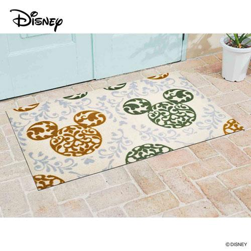 【送料無料】【メーカー直送】クリーンテックス・ジャパン Disney Mat Collection ディズニー 玄関マット Mickey ミッキー ロココ調 グリーン 75 × 120 cm BK00030【smtb-u】