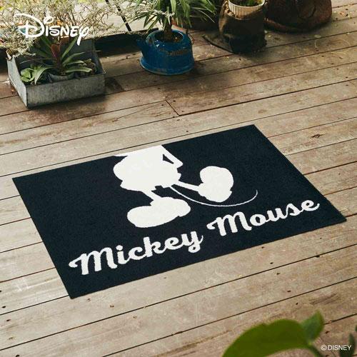 【送料無料】【メーカー直送】クリーンテックス・ジャパン Disney Mat Collection ディズニー 玄関マット Mickey ミッキー シルエット ホワイト 60 × 90 cm BK00071【smtb-u】