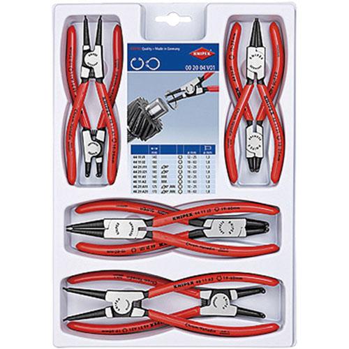 【送料無料】KNIPEX スナップリングプライヤーセット 8本組 002004V01