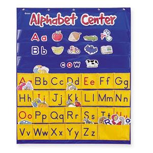 【送料無料】Learning Resources Alphabet Center Pocket Chart ポケットチャート アルファベット LER 2246