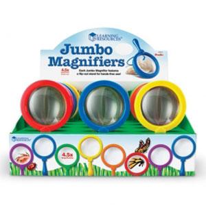 【送料無料】Learning Resources Primary Science Jumbo Magnifiers, Set of 12 ジャンボ虫眼鏡 12個セット LER 2775