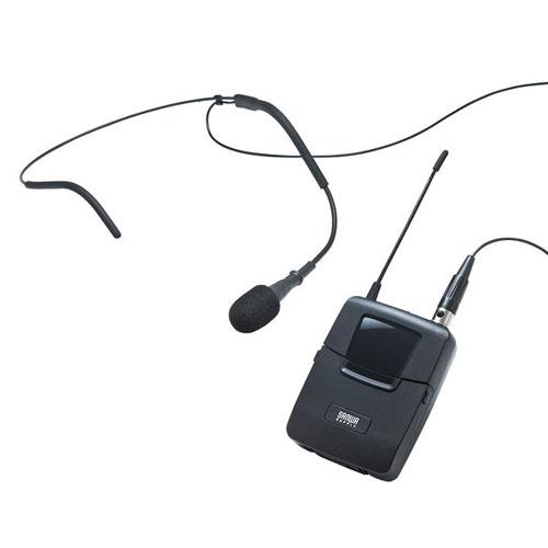【送料無料】サンワサプライ ワイヤレスヘッドマイク MM-SPAMP4/7用 MM-SPAMP4WHS