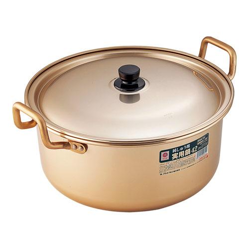 【送料無料】アカオ アカオアルミ アカオ しゅう酸実用鍋 42cm AZT04042