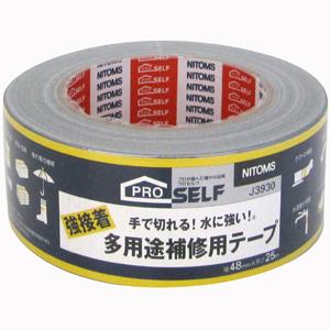【送料無料】【メーカー直送】ニトムズ 日東 プロセルフ 強接着 多用途 補修用テープ 48mm×25m J3930 24巻入