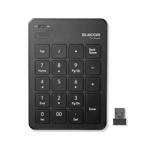 5980円 税込 以上で送料無料 追加で何個買っても同梱0円 エレコム 国内在庫 ELECOM ブラック 予約販売品 無線テンキーパッド 薄型 TK-TDP019BK パンタグラフ