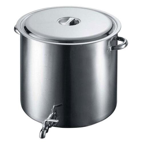 【送料無料】EBM 18-8 蛇口付 スープ寸胴鍋 45cm 3589400