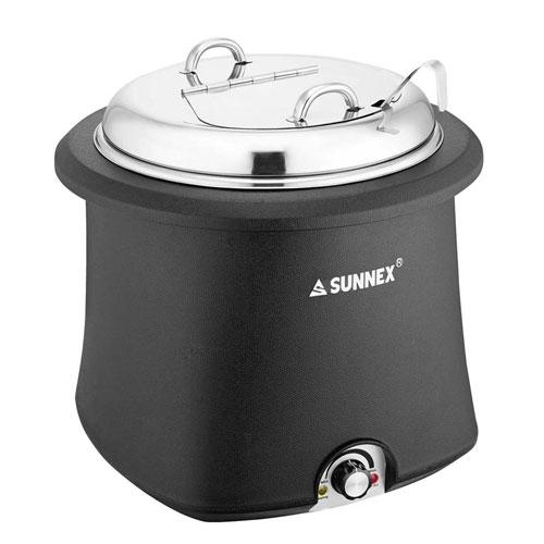 【送料無料】サンネックス SX 電気式スープウォーマー E07-1001 ステンレス蓋仕様 10L 8929700