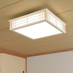【送料無料】オーム電機 LED和風シーリングライト 調光 8畳用 昼光色 LE-W30D8K-K