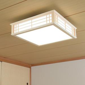 【送料無料】オーム電機 LED和風シーリングライト 調光 12畳用 昼光色 LE-W50DBK-K