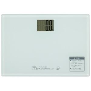 5980円 税込 以上で送料無料 追加で何個買っても同梱0円 爆安 ホワイト オーム電機 HBK-T101-W デジタル体重計 倉庫