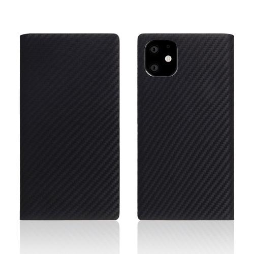 【送料無料】SLG Design iPhone 11 背面カバー型 carbon leather case ブラック SD17901i61R▽▼