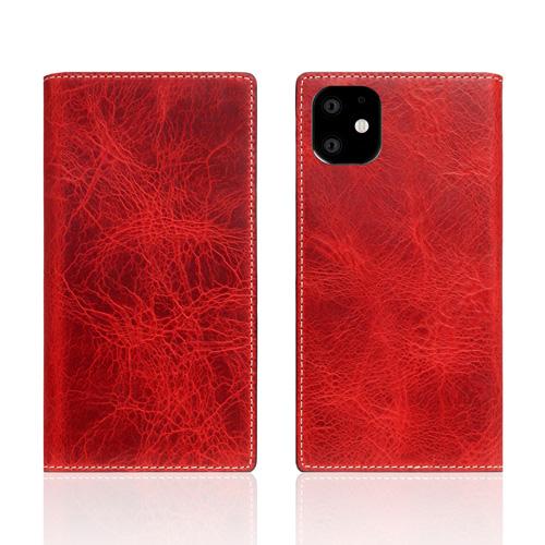 【送料無料】SLG Design iPhone 11 背面カバー型 Badalassi Wax case レッド SD17903i61R
