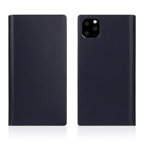 【送料無料】SLG Design iPhone 11 Pro Max 背面カバー型 Calf Skin Leather Diary ネイビー SD17967i65R▽▼