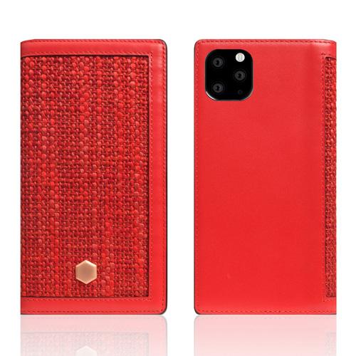 【送料無料】SLG Design iPhone 11 Pro Max 背面カバー型 Edition Calf Skin Leather Diary レッド SD17971i65R▽▼