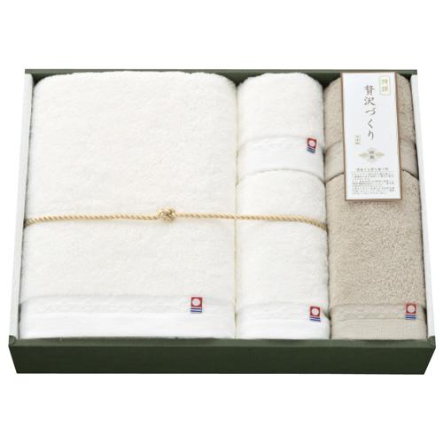 【送料無料】日繊商工 綿菱 タオルセット グレー WB-15005