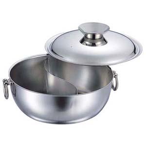 【送料無料】和田助製作所 SW電磁用しゃぶしゃぶ鍋 仕切付 23cm STハンドルツマミ QSY8601