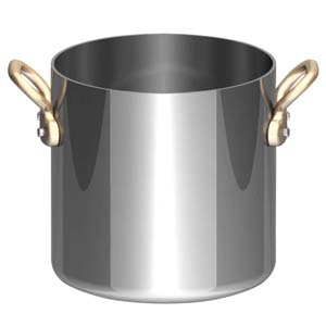 UK18-8プチ寸胴鍋(蓋無) 10cm PPT8503