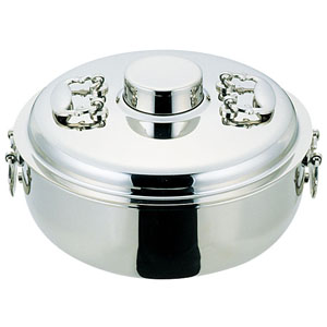 【送料無料】ES18-8電磁専用しゃぶしゃぶ鍋 24cm QSY43024
