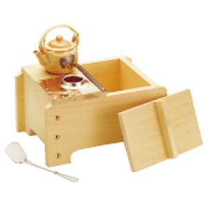 【送料無料】ヤマコー 桧角型湯ドーフセット(炭用) UH-1021 1人用 QYD04