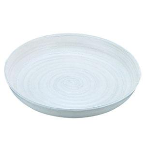 【送料無料】アルミ電磁用ドラ鉢 白刷毛目 尺2 NDL0302