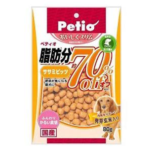ペティオ Petio おいしくスリム 脂肪分約70%オフ ササミビッツ 80g ◇◇