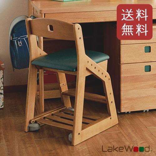 【送料無料】コイズミ 木製チェア レイクウッド ダークグリーン LDC-33 ANDG 【レイクウッドチェア イス 学習椅子】