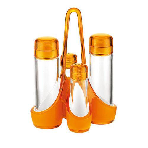 【送料無料】guzzini グッチーニ オイル&ビネガーカスターセット 2488.0045 オレンジ RGTT705【smtb-u】