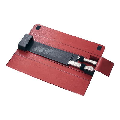 送料無料 追加で何個買っても同梱0円 貝印 メーカー公式ショップ 包丁ケース AB2852 2本用赤黒 休日 AHU9701