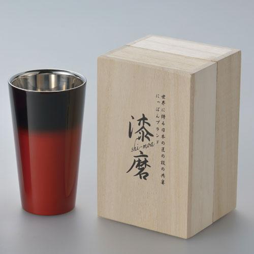 【送料無料】ASAHI アサヒ 漆麿 シーマ 二重構造ストレートカップ 赤彩 SCW-L602【smtb-u】