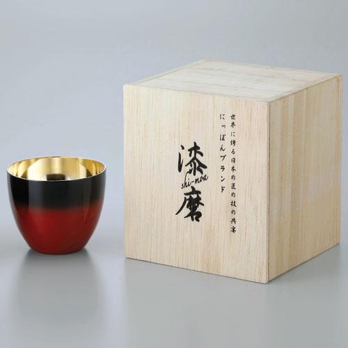 【送料無料】ASAHI アサヒ 漆麿 シーマ 二重構造ぐい呑み 赤彩 SCW-GK602