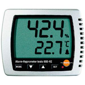 【送料無料】卓上式温湿度計 アラーム付 TestO608-H2 2871000