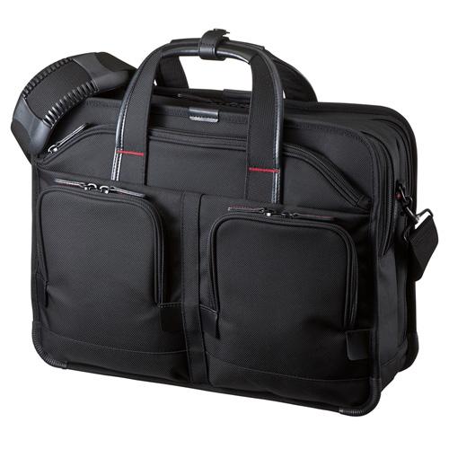 【送料無料】サンワサプライ エグゼクティブビジネスバッグPRO(15.6インチワイド・ダブル・ブラック) BAG-EXE8
