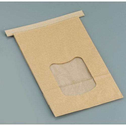【送料無料】水野産業 クラフト窓付きティンタイ袋 ワイヤー付 L(400枚入) GHK0703