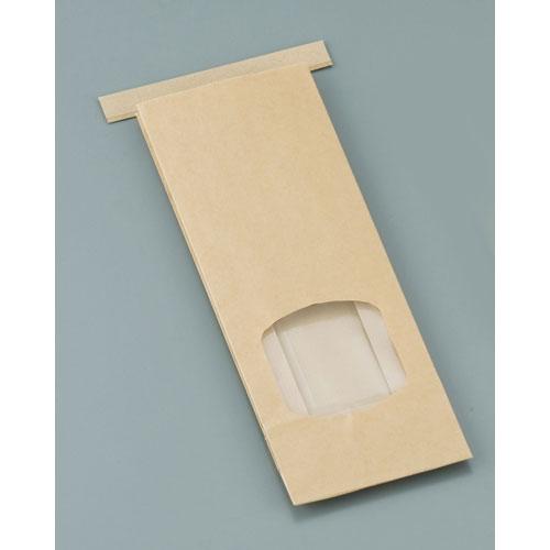 【送料無料】水野産業 クラフト窓付きティンタイ袋 ワイヤー付 S(500枚入) GHK0701