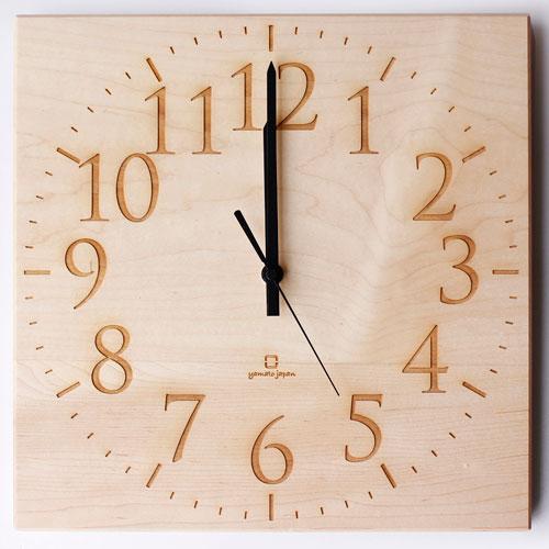 【送料無料】ヤマト工芸 掛時計 MUKU-スタンダード数字- YK14-101-N メイプル