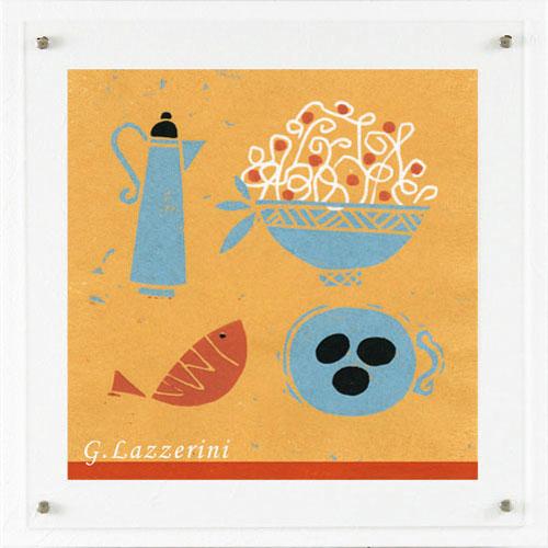 【送料無料】オリジン アートポスター ジュリアーナ ラッツェリーニ オシャレカラー07 HS-7202【smtb-u】