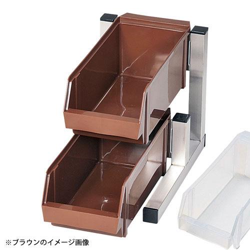 【送料無料】TKG 18-8スマート オーガナイザー 2段1列 2ヶ入 ホワイト EOC2505