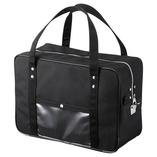 【送料無料】サンワサプライ メールボストンバッグ Mサイズ ブラック BAG-MAIL1BK